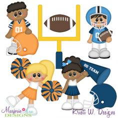 Time For Football SVG Cutting Files Includes Clipart