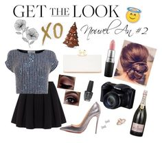 """""""Get the Look : Nouvel An #2"""" by mathildebounhol on Polyvore featuring Polo Ralph Lauren, Coast, Christian Louboutin, OPI, Marc by Marc Jacobs, Ted Baker, MAC Cosmetics, WallPops and xO Design"""