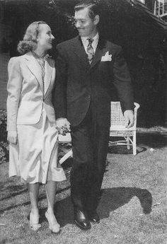 Carole Lombard and Clark Gable's wedding day