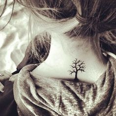 Small Tree Tattoo For Back Neck