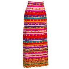 Multi color Boho Maxi Skirt
