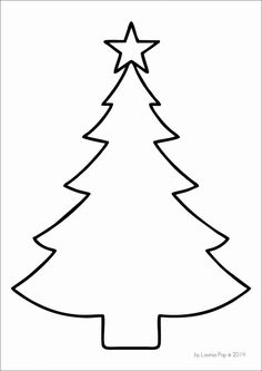 FREE Christmas tree template                                                                                                                                                                                 Más
