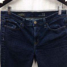 d91ba6c2f76cc J Crew Womens Jeans Size Toothpick Dark Wash Stretch Denim Pants