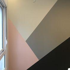 Parede Geometrica, geometric wall, colors, tintas Suvinil Cute Bedroom Decor, Bedroom Wall Designs, Comfy Bedroom, Bedroom Colors, Room Wall Painting, Kids Room Paint, Geometric Wall Paint, Creative Wall Decor, Custom Home Plans