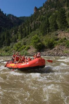 Rafting on the Colorado River --   Glenwood Springs, CO. And without a tour group! :D