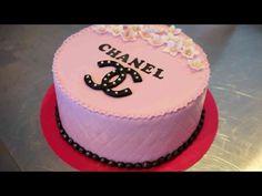 Simple Chanel Torte - Fondant Torte im Chanel Design -