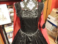 Black and red Lady bug ball gown