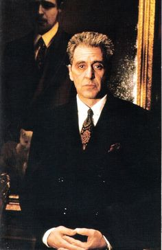 Al Pacino as the older Michael in the Godfather