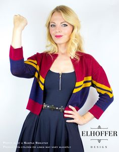 PREORDER Round 2 - Corps Cardigan 3/4 Sleeve Cropped Cardigan - Gold, Red, Navy - Shipping Mid-December!