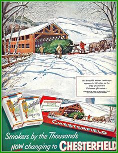 1953 CHESTERFIELD CHRISTMAS AD