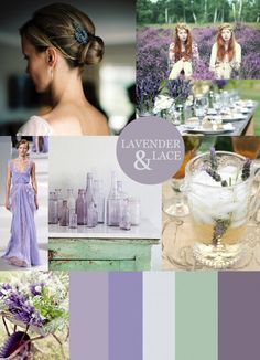 """Lavender & Lace"" lavender, lilac, and sea foam"