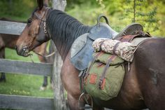 The most important role of equestrian clothing is for security Although horses can be trained they can be unforeseeable when provoked. Riders are susceptible while riding and handling horses, espec… Horse Camp, Horse Gear, Medieval Horse, Cowboy Gear, Horse Trailers, Trail Riding, Equestrian Outfits, Horse Saddles, Saddle Bags