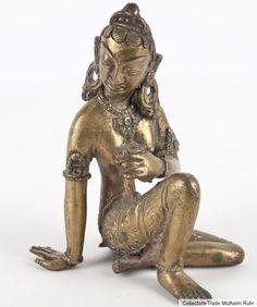 Nepal 20. Jh. Bronzefigur -A Nepalese Bronze Figure Of Tara - Statuette Népalais