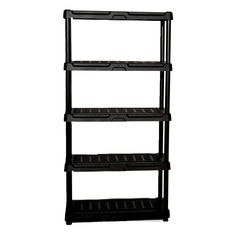 Blue Hawk Garage Shelving Unit 339949 H x W x D Plastic Freestanding Shelving Unit Plastic Shelving Units, Garage Shelving Units, Garage Shelf, Garage Storage, Storage Room, Metal Storage Racks, Storage Shelves, Household Cleaning Supplies, Storage Solutions