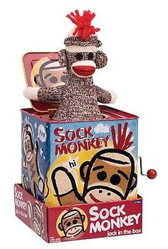 Jack-in-the-Box 166785: Sock Monkey Jack In The Box -> BUY IT NOW ONLY: $31.99 on eBay!