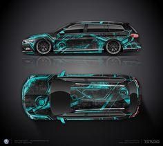 Design concept #3 Tron for VW Passat B8