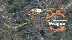 Transit Map of the Best Sights Prague www.NomadicYou.com