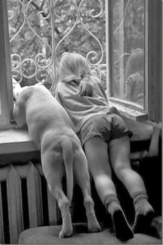 """Best friends from the bottoms of their heart. Whoever said, """"Diamonds are a girls best friend. Love My Dog, Puppy Love, Animals For Kids, Animals And Pets, Cute Animals, Animals Photos, Sweet Animal, Mans Best Friend, Best Friends"""