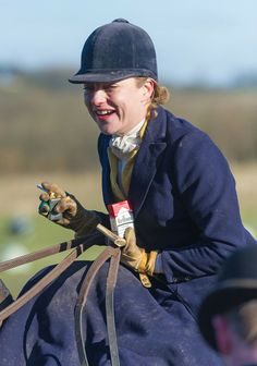 Lady Martha Sitwell after the finish of the inaugural running of the Bernard Weatherill Sidesaddle Chase, the first race for sidesaddle ride.