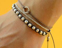 Woven  sterling silver bracelet by zzaval on Etsy, €18.30