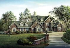 European Style House Plans - 5321 Square Foot Home , 2 Story, 4 Bedroom and 5 Bath, 3 Garage Stalls by Monster House Plans - Plan 77-274