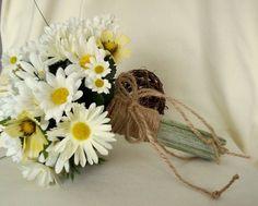 Daisy Bouquet Twine Wrap Hippie Bridal