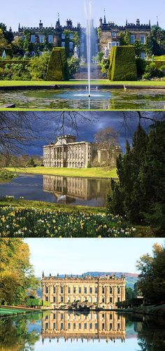 English houses used in the 1980, 1995 and 2005 Pride and Prejudice adaptations.
