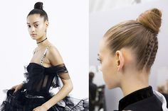 Top knot adorned with cornrows - Christian Dior