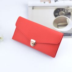Fashion Women Wallets Female Thin Long Wallets Hasp Purse Slim Solid Color Purse  Holder Phone Coin a4c1ab2c9f54d