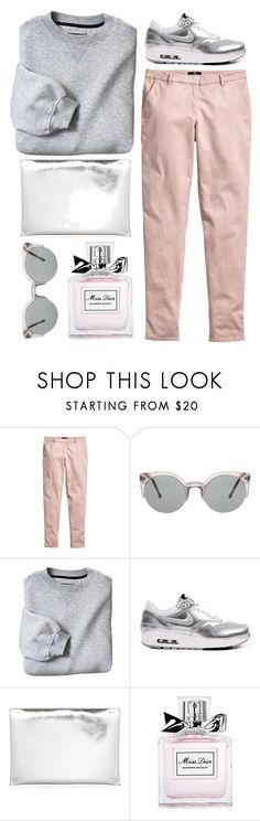 """""""sporty spice"""" by rosiee22 ❤ liked on Polyvore featuring H&M, NIKE, Marni and Christian Dior"""