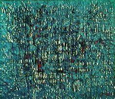 Futebol no Hyde-Park 1964   Antonio Bandeira óleo sobre tela, c.i.d. 80.00 x 100.00 cm