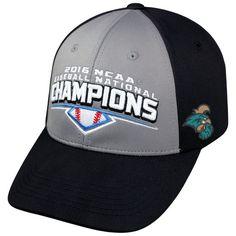 Coastal Carolina Chanticleers Top of the World 2016 NCAA Men's Baseball College World Series National Champions Locker Room Adjustable Hat - Gray/Black