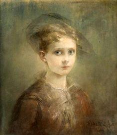 Young Boy Rosina Mantovani Gutti (1851 – 1943, Italian)