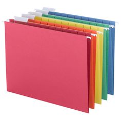 Smead Hanging File Folders 1/5 Tab Letter Assorted Colors 25ct