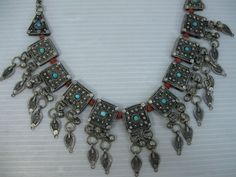 AN ANTIQUE/VINTAGE RARE AND BEAUTIFULLY MADE, NECKLACE FROM YEMEN  #Unbranded