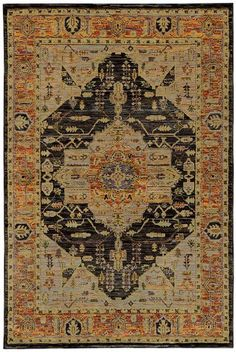 Oriental Weavers Andorra 7138B Gold/ Grey Area Rug – Incredible Rugs and Decor