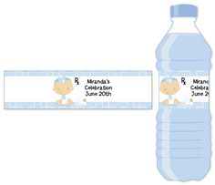 Little Doctor On The Way - Personalized Baby Shower Water Bottle Labels