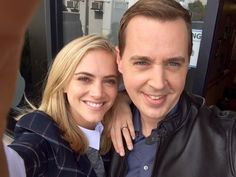 NCIS Season 12 Behind The Scenes Emily W. And Sean Murray