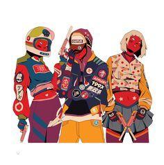 En lo más fffres.co: La moda urbana y el folclor japonés se encuentran en… #Design #199hates #mau_lencinas #ilustraciones #ilustración