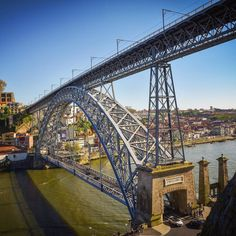 Spain & Portugal Trip Photo #9: Dom Luis I Bridge in Porto is a 172-meter-long double-decked metal arch bridge built in 1887 to connect Porto to Vila Nova de Gaia town across the Douro River. by originalchamp