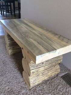Log coffee table by Jwlogcraft on Etsy                                                                                                                                                                                 More
