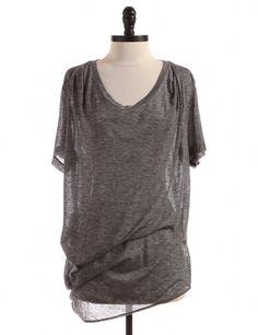 Grey T-Shirt by 3.1 Phillip Lim - Size L - $60.95 on LikeTwice.com