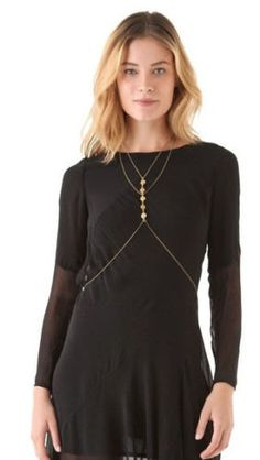 Body Chain Gold Disc Body Chain Grecian by BLACKTHORNJEWELLERY