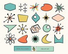 Modern Graphic Design, Retro Design, Graphic Design Illustration, Icon Design, 1950s Design, Retro Illustration, Vector Illustrations, Bubble, Retro Images