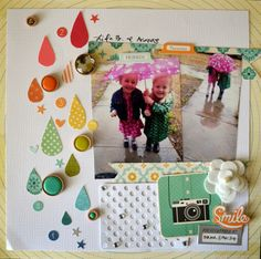 April Showers, By Virginia Tillery, using the NoelMignon Social Butterfly kit.