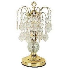 $28.50 Ore Glass Touch Accent Lamp - Gold