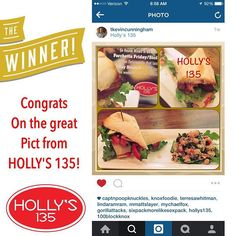 WINNER! Congtats @tkevincunningham your photo won a FREE MAIN DISH!! Keep posting those picts while at HOLLY's 135 for your chance to win!! #KNOXROCKS #KNOXEATS #FOODIE