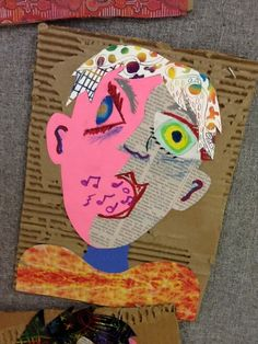 Picasso portraits ~ create a portrait in the style of Picasso. We have created these in a multiple of ways in the past but this collage method has really been a successful start for all students.