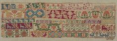Sampler fragment, Mexican, late 18th-early 19th century. From the collections of the Museum of Fine Arts Boston