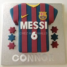 Football Shirt Cake Barcelona Cake, Sports Themed Cakes, Cake Design Inspiration, Shirt Cake, Quinceanera Cakes, Cake Templates, Football Birthday, Birthday Treats, Birthday Cakes